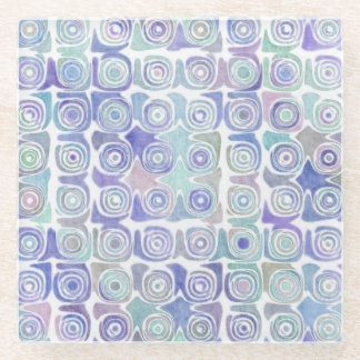 Pastel Swirl Glass Coaster