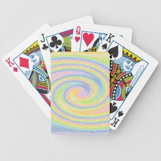 Pastel Swirl Playing Cards