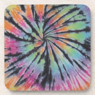 Pastel Swirl Spiral Tie Dye Coaster