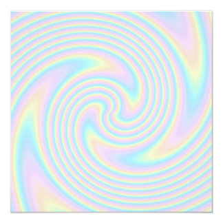 Pastel Swirl Twist Design. Card