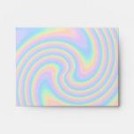 Pastel Swirl Twist Design. Envelope