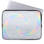 Pastel Swirl Twist Design. Laptop Computer Sleeves