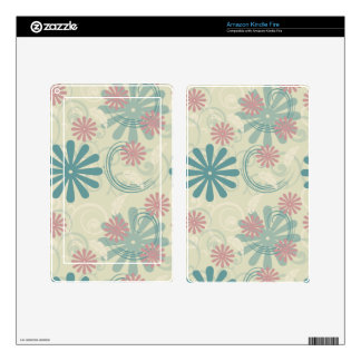 Pastel Swirls and Flowers Kindle Fire Skins