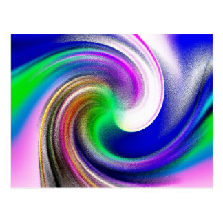 Pastel Swirls Postcard