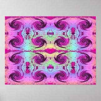Pastel Swirls Poster