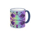 pastel swirls ringer coffee mug