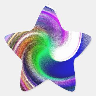 Pastel Swirls Star Sticker