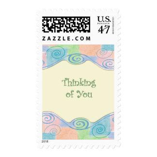 Pastel Swirls Thinking Postage