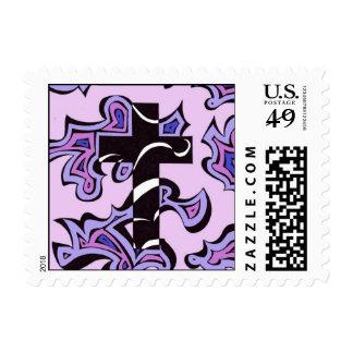 Pastel swirly cross stamps