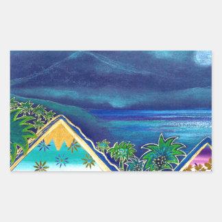 """pastel TARGET11_0_ diseno """"Isla Paraiso """" Rectangular Pegatinas"""