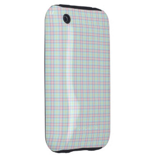 Pastel Tartan iPhone 3 Tough Cases