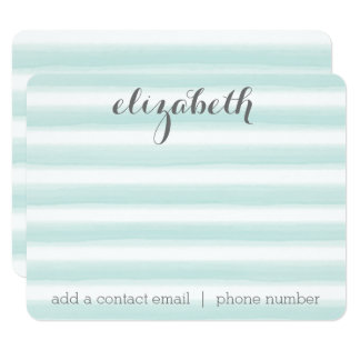 Pastel Teal and Gray Stationery Suite for Women Card