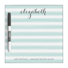 Pastel Teal and Gray Stationery Suite for Women Dry-Erase Board at Zazzle