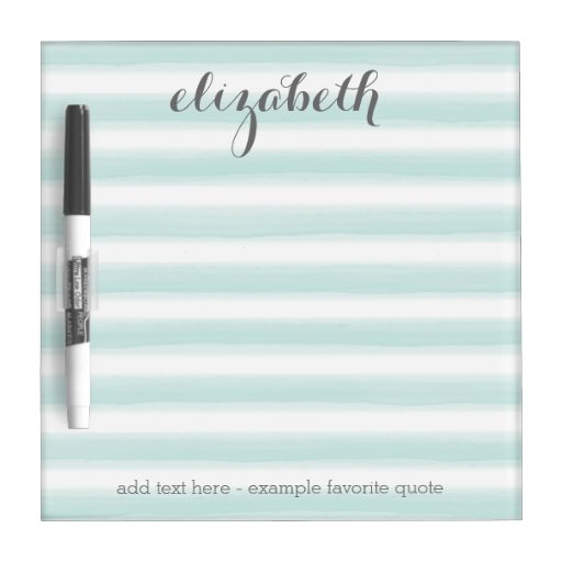 Pastel Teal and Gray Stationery Suite for Women Dry Erase Whiteboards