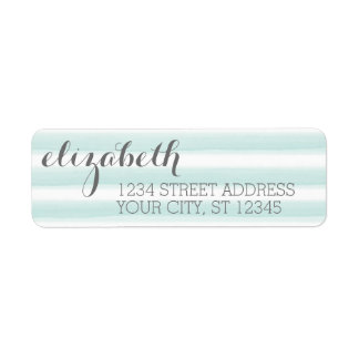 Pastel Teal and Gray Stationery Suite for Women Custom Return Address Label
