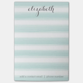 Pastel Teal and Gray Stationery Suite for Women Post-it® Notes