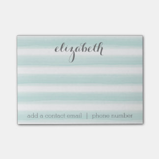 Pastel Teal and Gray Stationery Suite for Women Post-it Notes