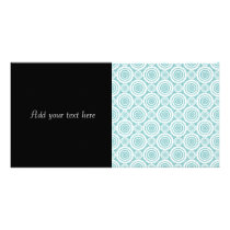 Pastel Teal and White Geometric Pattern Card