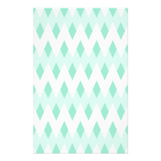 Pastel Teal Zigzag Pattern with Diamond Shapes. Flyer