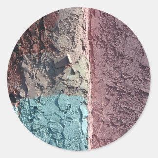 pastel texture classic round sticker