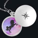 """Pastel Texture Unicorn  Design Necklace<br><div class=""""desc"""">Magical puple - pink texture with unicorn design !</div>"""