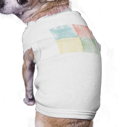 Pastel Textured Wood Dog Clothes
