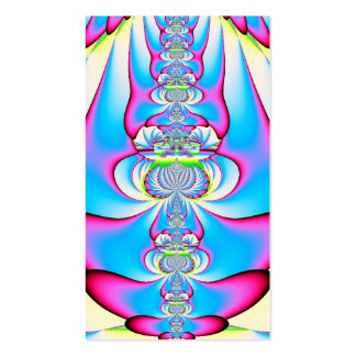 Pastel Tie Dye Angel Ascending Fractal Double-Sided Standard Business Cards (Pack Of 100)