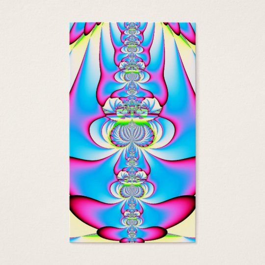 Pastel Tie Dye Angel Ascending Fractal Business Card