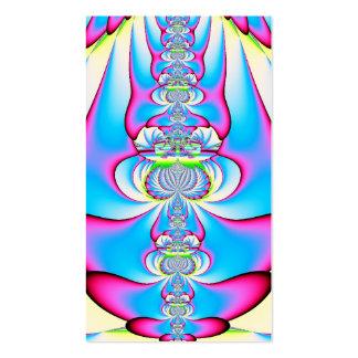Pastel Tie Dye Angel Ascending Fractal Business Card Templates