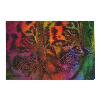Pastel Tiger Cubs Placemat