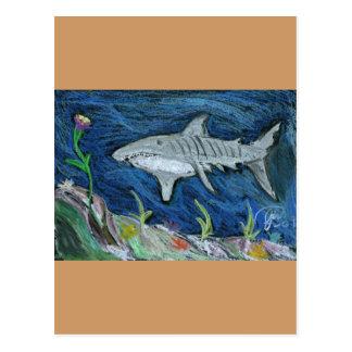 Pastel Tiger Shark Postcard