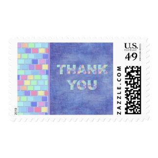 Pastel Tiles Thanks Stamp