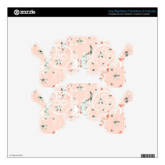 Pastel Tone Elephants Stars Pattern PS3 Controller Decals