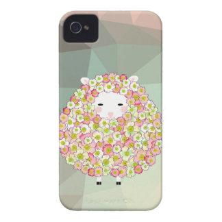 Pastel Tone Flowery Sheep Design Case-Mate iPhone 4 Case