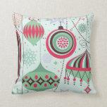 Pastel Tones Art-Deco Christmas Ornaments Pillow