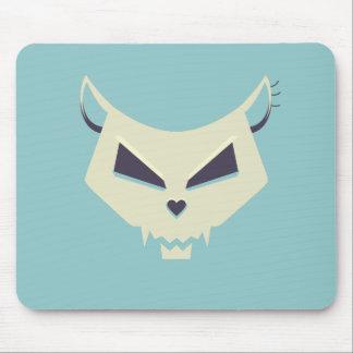 Pastel Tones Evil Cat Skull Mouse Pad