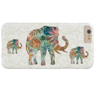 Pastel Tones Floral Elephant & Damasks Barely There iPhone 6 Plus Case