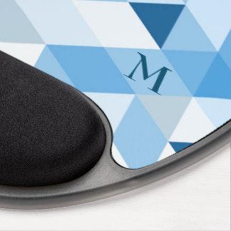 Pastel Tones Geometric Design Gel Mouse Pad