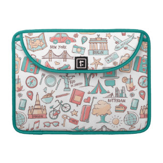 Pastel Tourist Pattern Sleeve For MacBooks