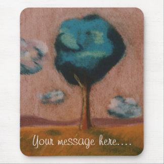 Pastel Tree Moder Art Custom Mousepad