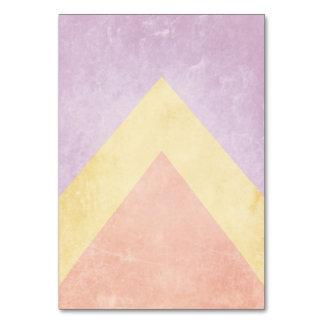 Pastel triangle pattern card