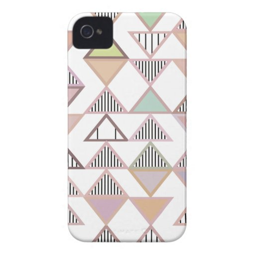 Pastel Triangles Pattern iPhone 4/4S Case-Mate iPhone 4 Covers