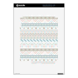 Pastel Tribal Pattern iPad 2 Decal