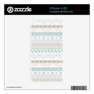 Pastel Tribal Pattern Skin For The iPhone 4
