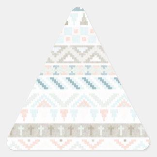 Pastel Tribal Pattern Triangle Sticker