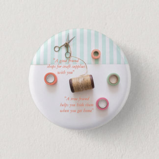 Pastel True Friend Craft Theme Button
