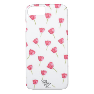 Pastel tulips iPhone 7 case