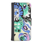 Pastel Turquoise 1920s Abstract Phone Wallet Cases