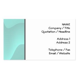 Pastel Turquoise Abstract Swirl Image. Business Card Templates