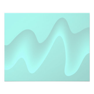 Pastel Turquoise Abstract Swirl Image. Flyer